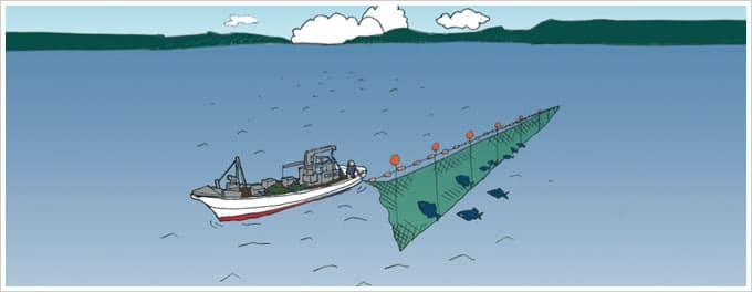 刺網漁イラスト
