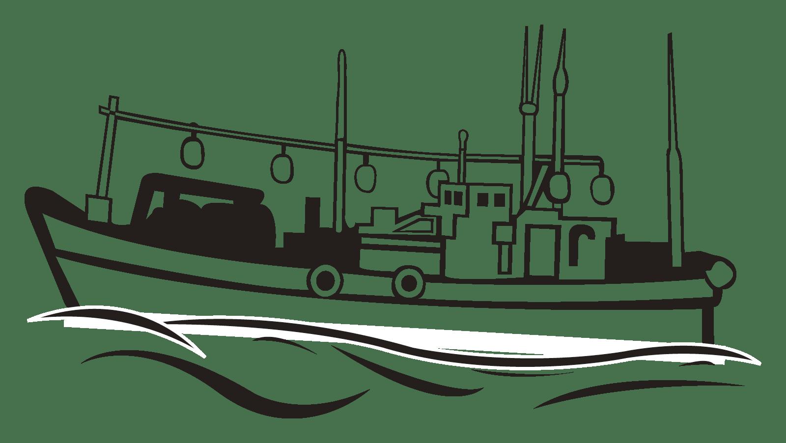 漁業の紹介のイラスト